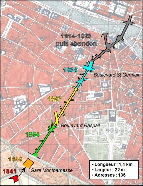 Principaux Jalons De Lhistoire La Rue Rennes Schma Baptiste Essevaz Roulet Fond Carte Plan Paris 1839 Par Tardieu